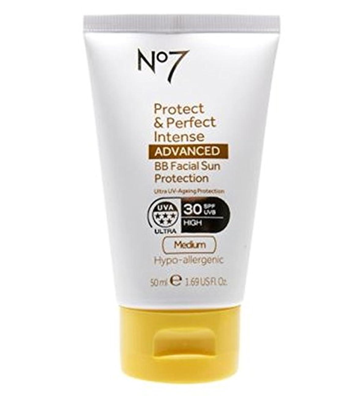 下資本パパNo7 Protect & Perfect Intense ADVANCED BB Facial Sun Protection SPF30 Medium 50ml - No7保護&完璧な強烈な先進Bb顔の日焼け防止Spf30...
