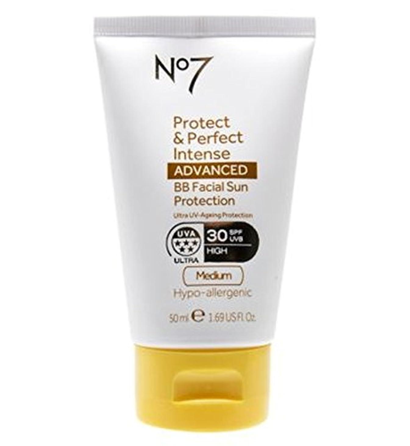 グラス家庭初期No7 Protect & Perfect Intense ADVANCED BB Facial Sun Protection SPF30 Medium 50ml - No7保護&完璧な強烈な先進Bb顔の日焼け防止Spf30...