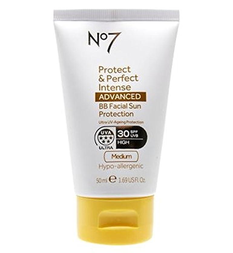 失礼じゃない新年No7 Protect & Perfect Intense ADVANCED BB Facial Sun Protection SPF30 Medium 50ml - No7保護&完璧な強烈な先進Bb顔の日焼け防止Spf30培地50ミリリットル (No7) [並行輸入品]