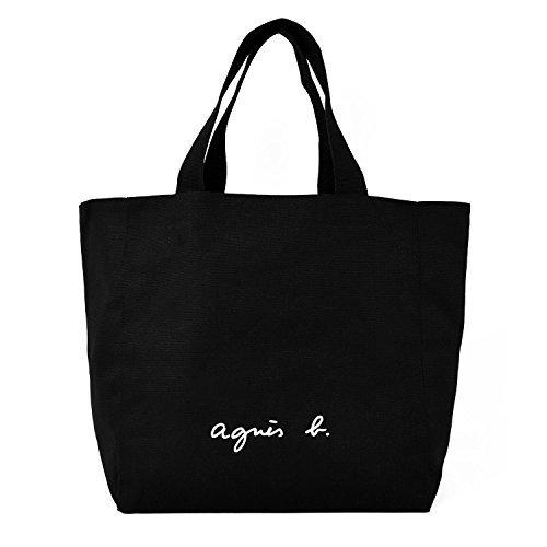 agnes b. VOYAGE アニエスベー ボヤージュ コットン トートバッグ (ブラック)