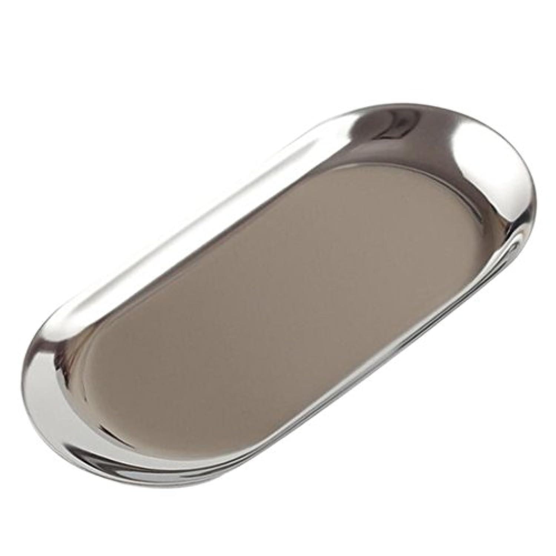 Baosity 金属スタイル 多用途 収納用トレイ 卓上 家庭 装飾 全6パターン選べ - シルバー, S