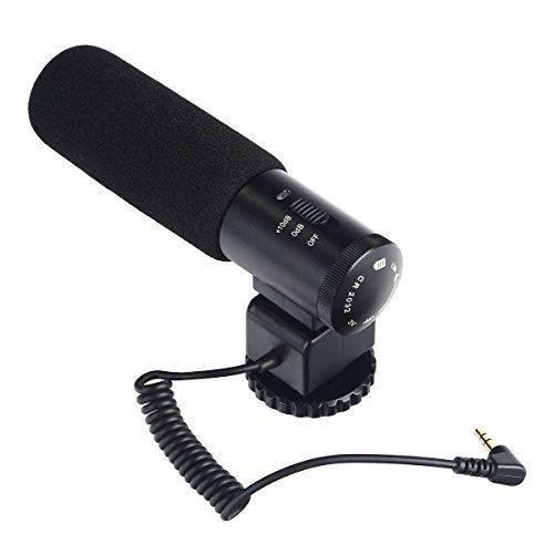 一眼レフ マイク、K&F Concept® カメラマイクロホン CM-500 カメラ外付けマイク コンデンサーマイク 指向性 インタビュー 撮影 レコーディングマイクロホン Pentax、Nikon、Canon、一眼レフ対応