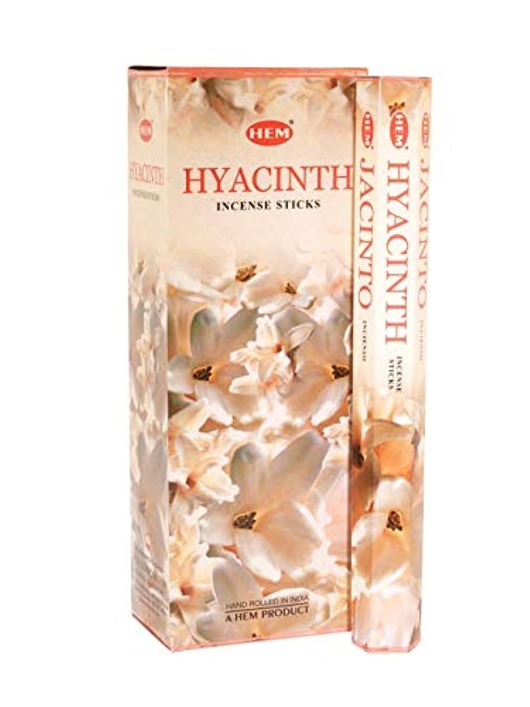 栄光つかむ不適当HEM(ヘム)社 ヒヤシンス香 スティック HYACINTH 6箱セット