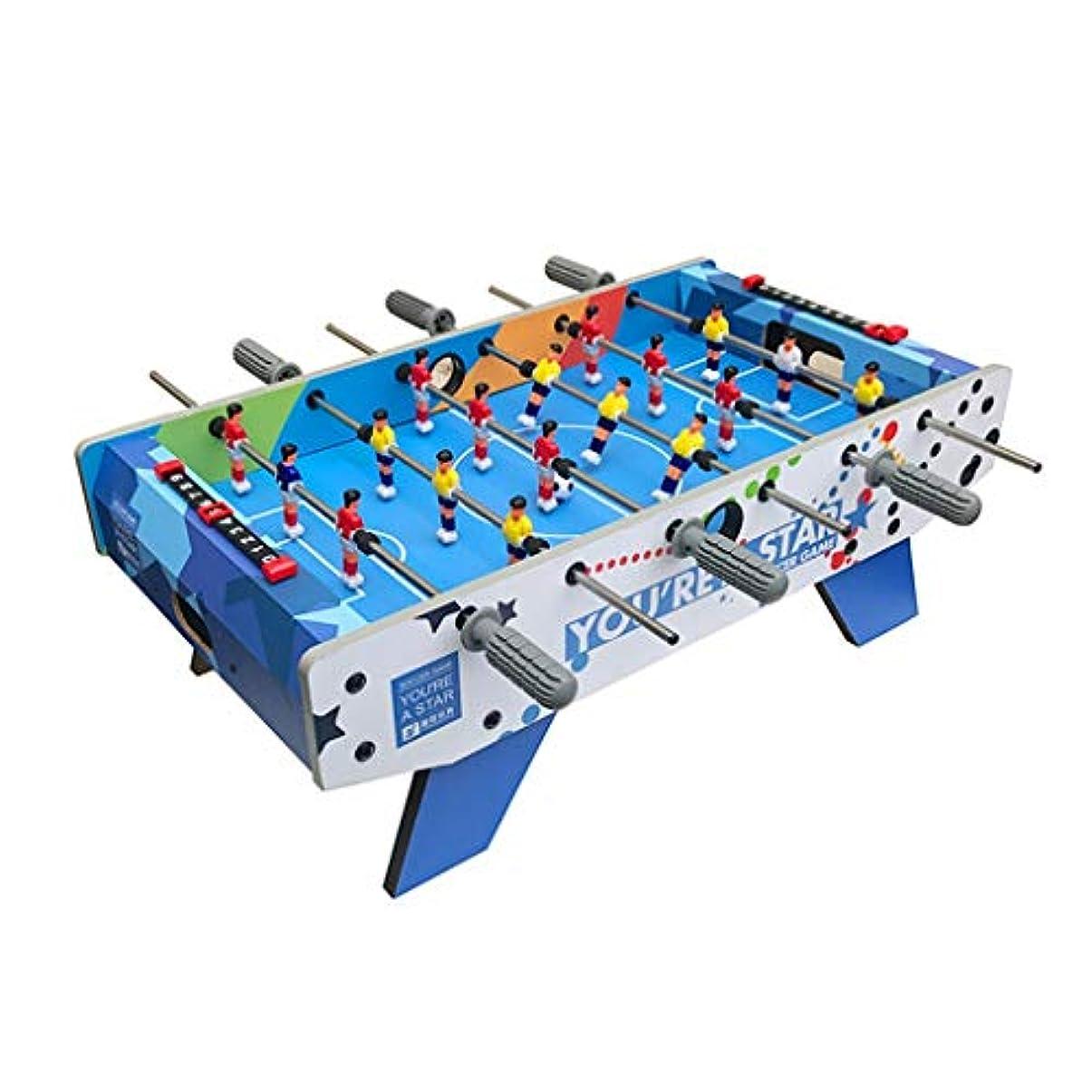 真似る金銭的動作子供のパズルゲームテーブル親子インタラクティブビリヤードおもちゃポータブル屋外のおもちゃテーブルサッカーのおもちゃ男の子のスポーツのおもちゃ子供の最高の贈り物 (Color : BLUE, Size : 36.5*69.5*24CM)
