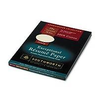 Southworth ® Connoisseurコレクション® résumé用紙用紙、100% cot24#、100sh、IY (パックof8)