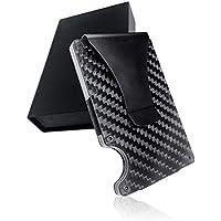LE ARGENT (ル アルジャン) マネークリップ クレジットカードケース カーボン カーボンファイバー 財布 磁気防止 スキミング防止 大容量 メンズ 薄型 アルミ