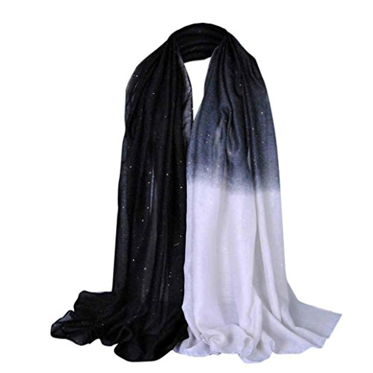法的ポイント指Feiscat 女性 キラキラ グラデーションスタイル アクセサリー お洒落 ふんわり ファッションスカーフ