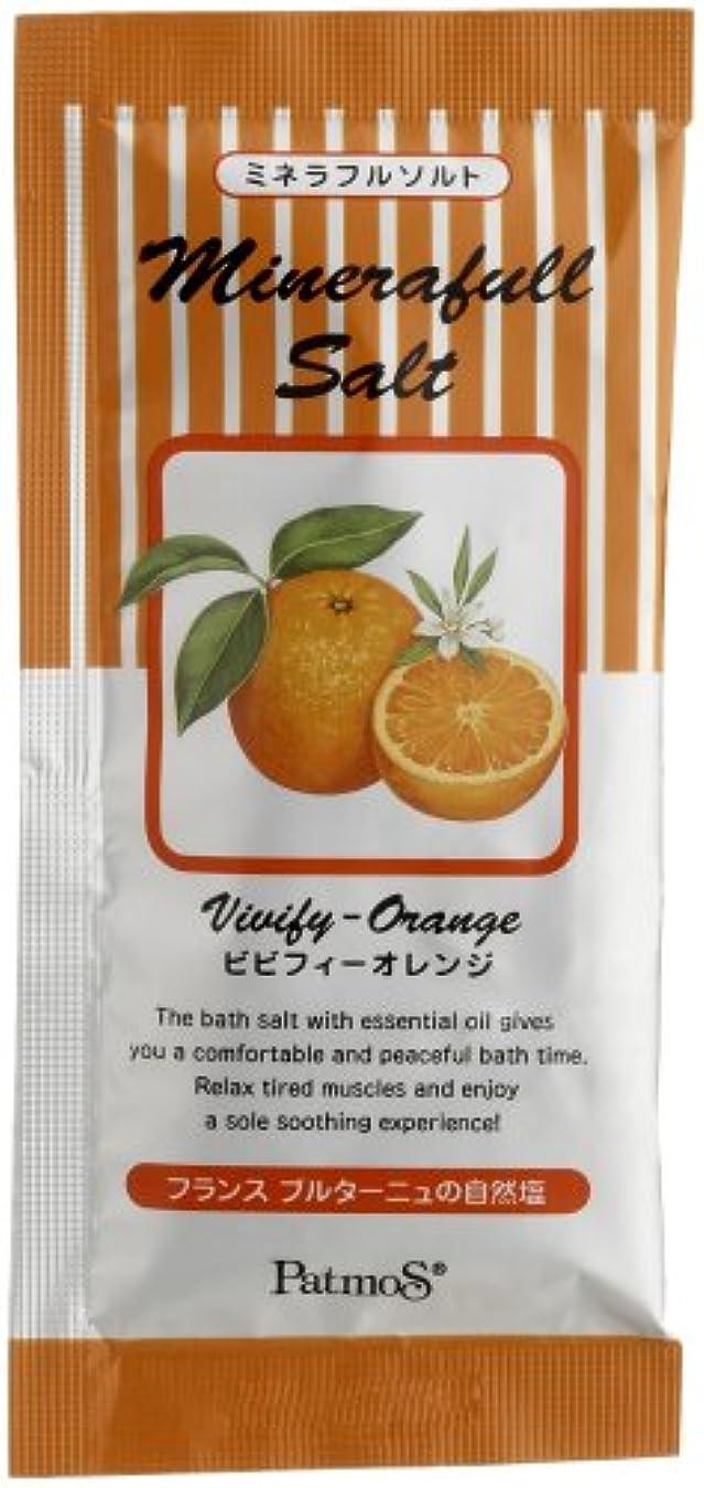 媒染剤意気揚々しみパトモス ミネラフルソルト ビビフィーオレンジ