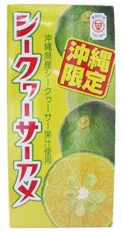 シークヮーサーアメ (5g×8粒入り) 6個詰×12セット(2ボール) セイカ食品株式会社 ご当地ボンタンアメ 沖縄県産シークワーサー果汁使用 お土産に