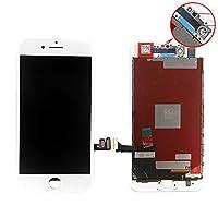 For iPhone 7 フロントパネル 液晶パネル 交換 タッチパネル LCD 高品質 タッチパネル ディスプレイ 受話器の防塵ネット フロントカメラプラスチックホルダー (ホワイト)