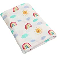 青空販売 おくるみ 新生児 赤ちゃん ブランケット バスタオル 竹繊維 出産祝い 120×120cm (カラー01)