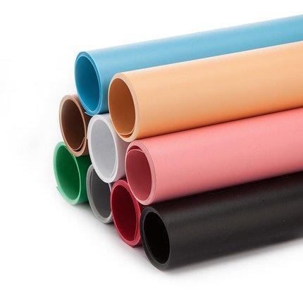 Meking 高品質写真撮影用 PVC 背景 背景紙 バックペーパー 100cm x200cm ホワイト+グレー
