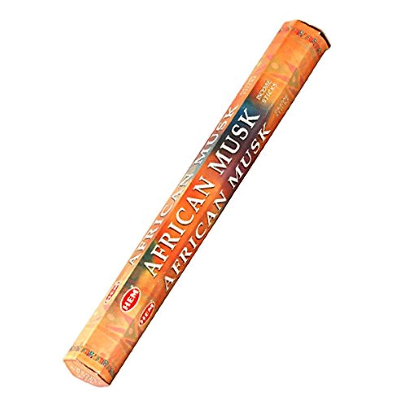 におい首雰囲気HEM(ヘム) アフリカンムスク AFRICAN MUSK スティックタイプ お香 1筒 単品 [並行輸入品]