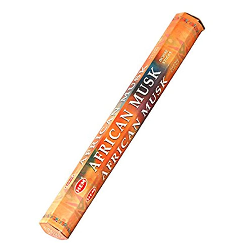 旅行代理店言語壊れたHEM(ヘム) アフリカンムスク AFRICAN MUSK スティックタイプ お香 1筒 単品 [並行輸入品]