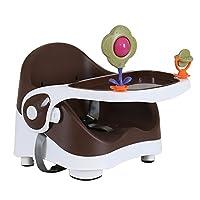 ベビー健康的なケアブースターシート - 多機能ポータブル折り畳み式乳児ベース2 - In - 1シート - ゴーブースターの席でダイニングテーブルベストギフトおもちゃ,Brown