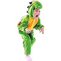 [ウェアハピ] 恐竜に大変身 子供用 コスプレ コスチューム 着ぐるみ パジャマ キッズ 恐竜 ダイナソー M L XL 小さい 大きい サイズ cosplay ハロウィン イベント パーティー 発表会 (Medium(身長約100~110cm))