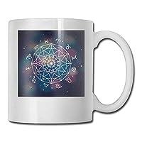 星座結婚占星術アイコンおかしいコーヒーマグクールコーヒーティーカップ11オンス家族や友人のための完璧な贈り物