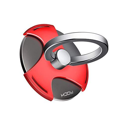 スリーナイン  スマホ リング ハンドスピナー  指スピナースマホ 携帯 ホルダー リング型 ストレス解消 落下防止 360度回転 iPhone/Galaxy / Xperia 多機種対応 (赤)
