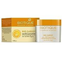 Biotique Carrot Face and Body Sun Cream SPF 40 UVA/UVB Sunscreen