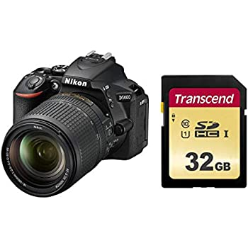 Nikon デジタル一眼レフカメラ D5600 18-140 VR レンズキット ブラック D5600LK18-140BK+Transcend SDHCカード 32GB MLC NAND 採用 UHS-I Class10 (最大転送速度95MB/s) TS32GSDC500S-E【Amazon.co.jp限定】 セット
