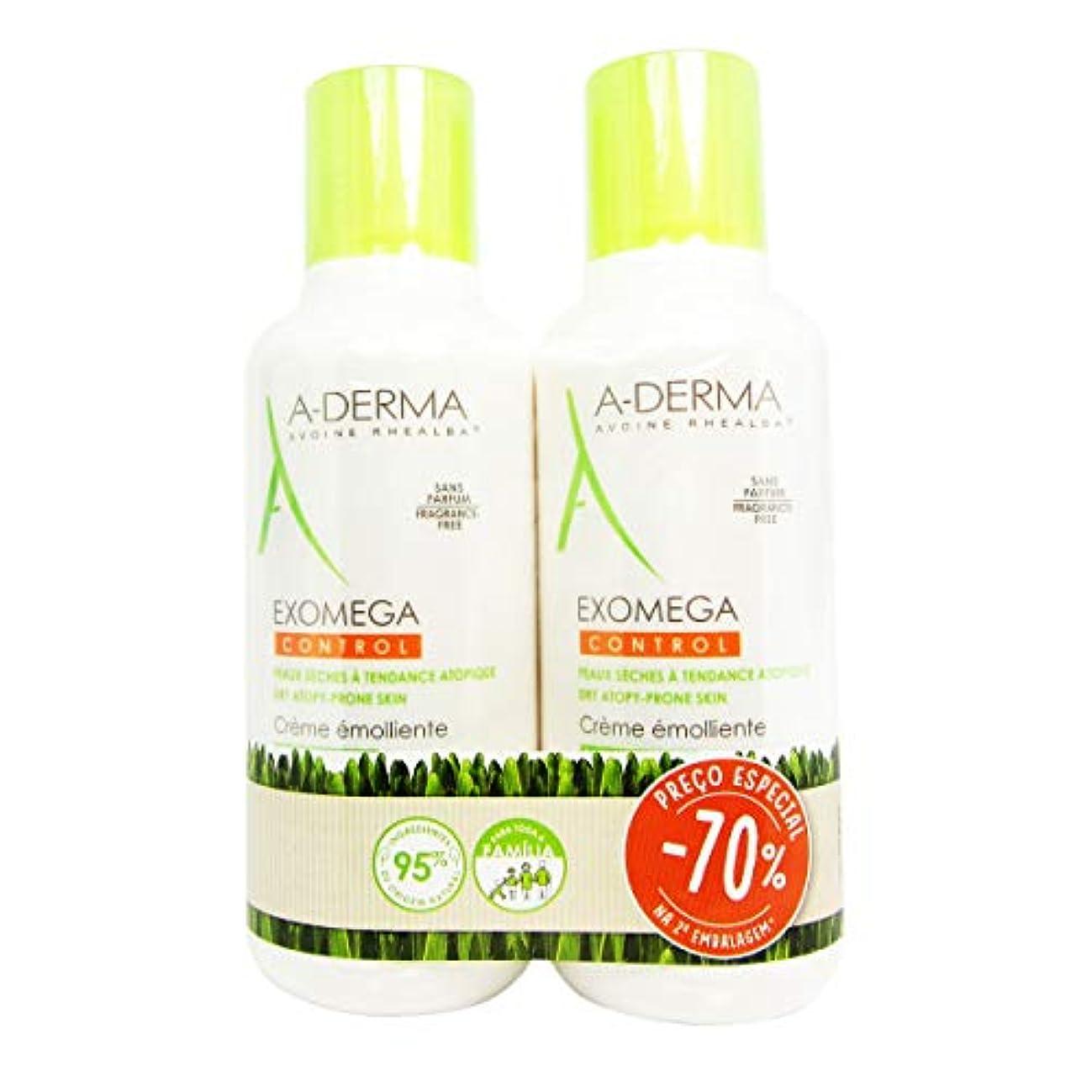 水差し小切手微視的A-Derma Exomega Control Emollient Cream 400mlx2