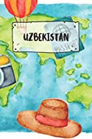 Uzbekistan: Ruled Travel Diary Notebook or Journey  Journal - Lined Trip Pocketbook for Men and Women with Lines
