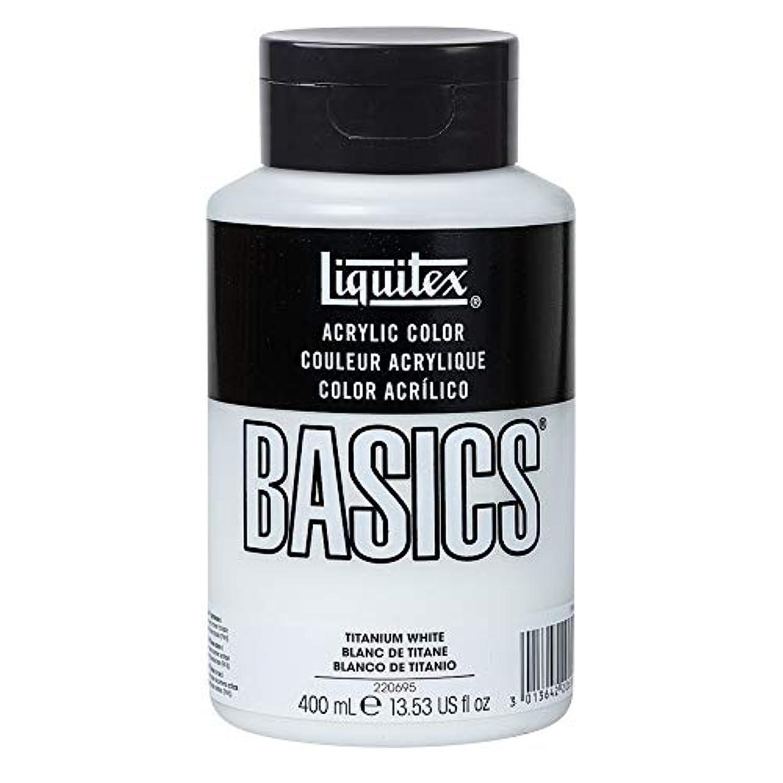 苦しむマスク前提条件リキテックス アクリル絵具 リキテックス ベーシックス チタニウムホワイト B-065 400ml