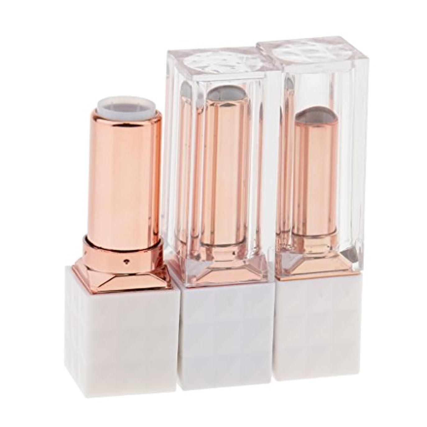 美しい同化する涙KOZEEY 3個 空チューブ リップバーム リップスティック コンディー 化粧品 コスメ 口紅 DIY 手作り プレゼント