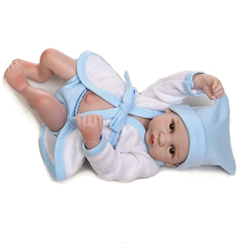 Boy Baby Bath人形Mini Handmade 11