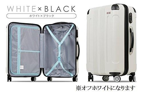 (ムーク)M∞K 超軽量スーツケース TSAロック付き 機内持ち込みSサイズ~Lサイズ (Sサイズ, ホワイト)