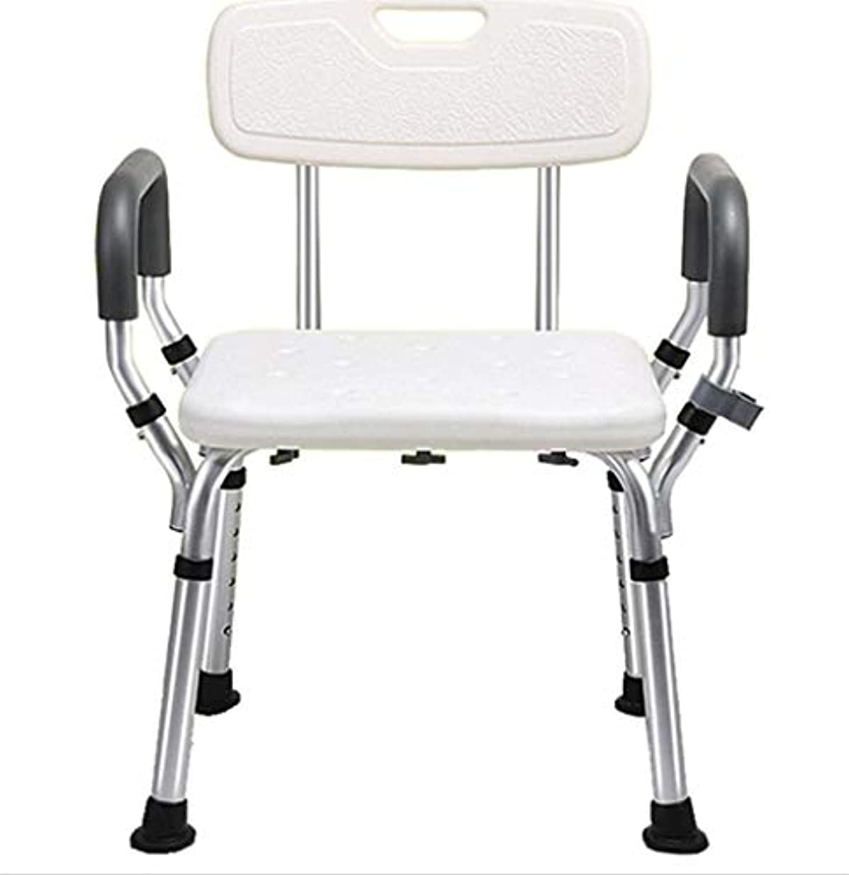 背もたれ付きシャワーチェア-障害者用の肘掛け付きバスタブベンチ、高齢者用滑り止め浴槽安全スツール