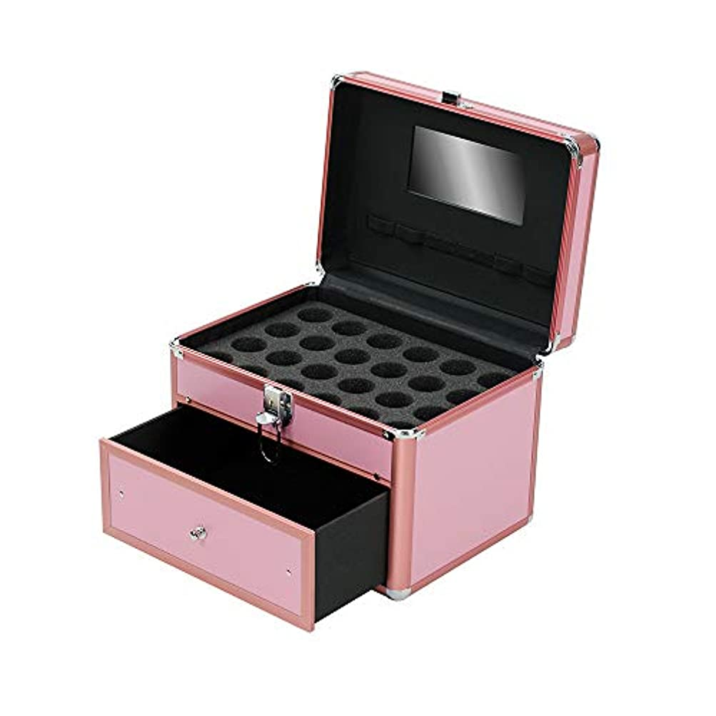 立証するワット確認する特大スペース収納ビューティーボックス 女の子の女性旅行のための新しく、実用的な携帯用化粧箱およびロックおよび皿が付いている毎日の貯蔵 化粧品化粧台