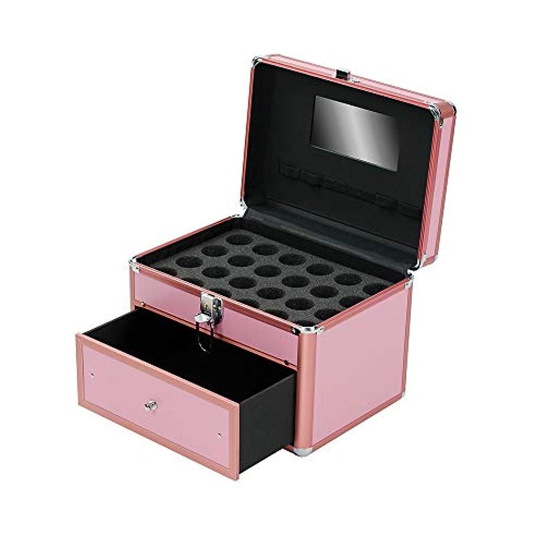 運賃抽象化はしご特大スペース収納ビューティーボックス 女の子の女性旅行のための新しく、実用的な携帯用化粧箱およびロックおよび皿が付いている毎日の貯蔵 化粧品化粧台