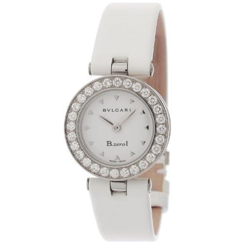 [ブルガリ]BVLGARI 腕時計 B-zero1 ホワイト文字盤  カーフ革ベルト BZ22WSDL.M レディース 【並行輸入品】