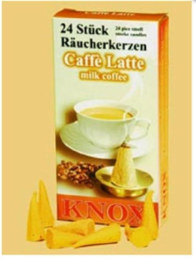 Knoxコーヒー香りつきIncense Cones、24パック、ドイツ製