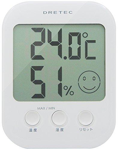 ドリテック デジタル温湿度計 オプシス ホワイト O-230WT