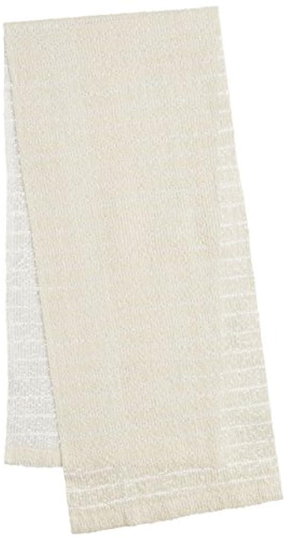被害者味付けストッキングオーエ CB3 絹綿ボディタオル ホワイト 20×100cm 天然素材100%