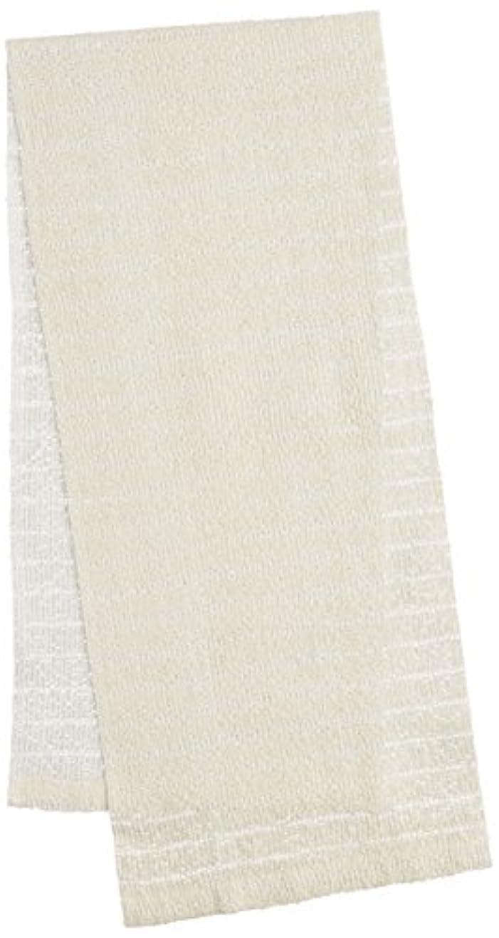 ミケランジェロセンターおもちゃオーエ CB3 絹綿ボディタオル ホワイト 20×100cm 天然素材100%