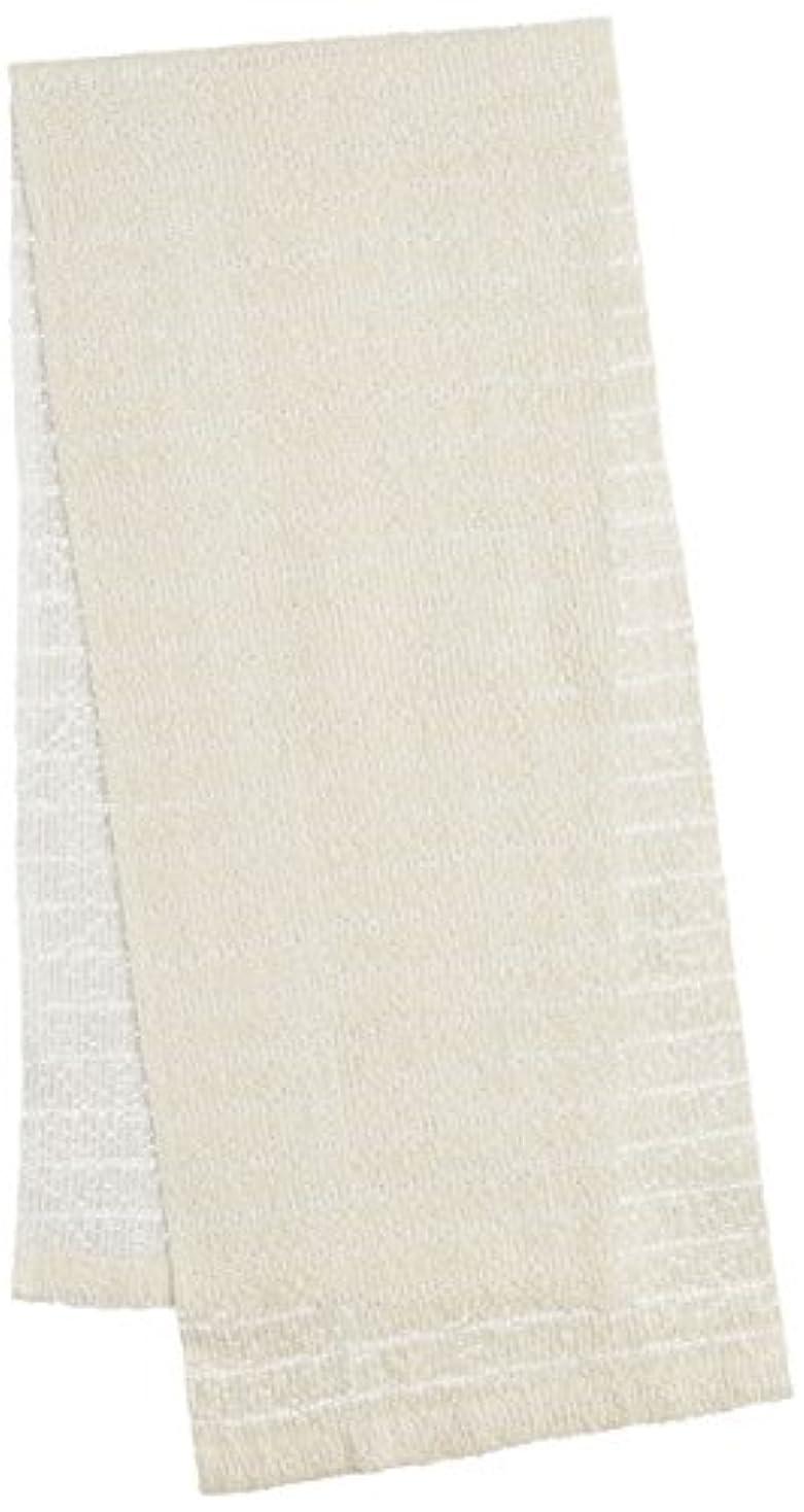 迅速悪質な大きいオーエ CB3 絹綿ボディタオル ホワイト 20×100cm 天然素材100%