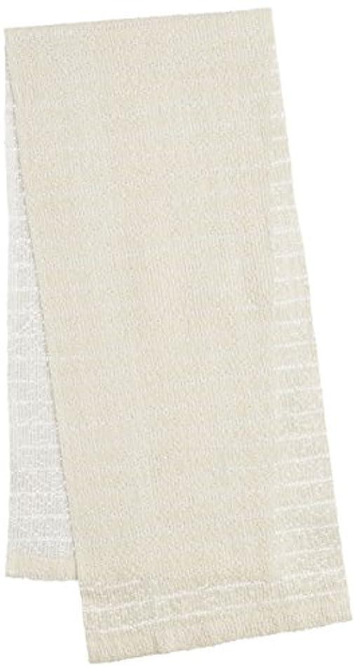 電話をかけるユーザーチャネルオーエ CB3 絹綿ボディタオル ホワイト 20×100cm 天然素材100%