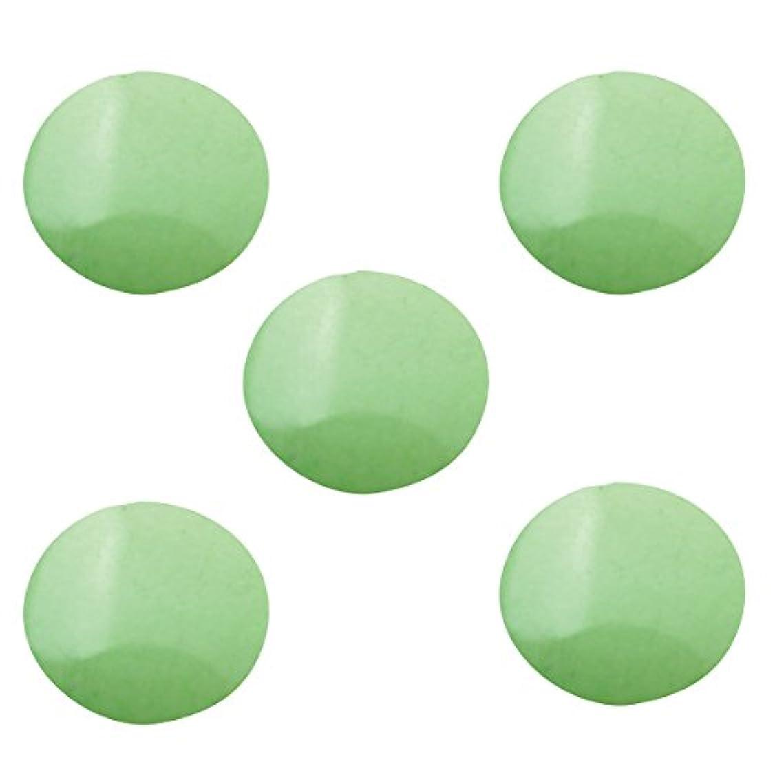 大腿歯痛適用するパステルスタッズ ラウンド 3mm (100個入り) グリーン