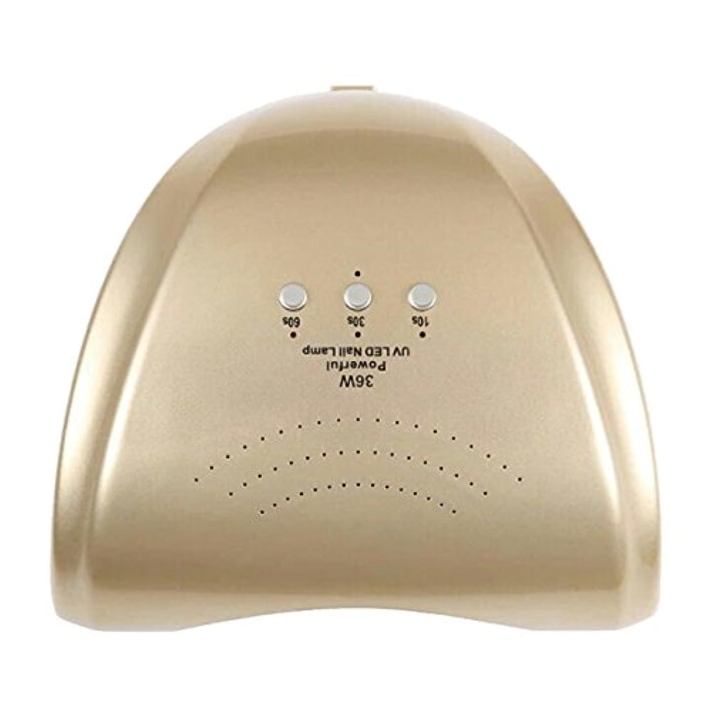 ランデブー決定する入場料La Curie 36W LED&UVネイルライト CCFL不使用 自動センサー ジェルネイル レジン 6ヶ月保証&日本語説明書&プロネイリスト監修ネイルレシピ付き 全9色 (ゴールド) LaCurie004