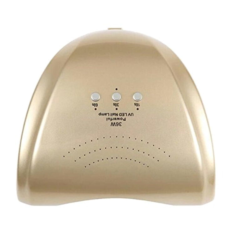 暗殺急流イライラするLa Curie 36W LED&UVネイルライト CCFL不使用 自動センサー ジェルネイル レジン 6ヶ月保証&日本語説明書&プロネイリスト監修ネイルレシピ付き 全9色 (ゴールド) LaCurie004