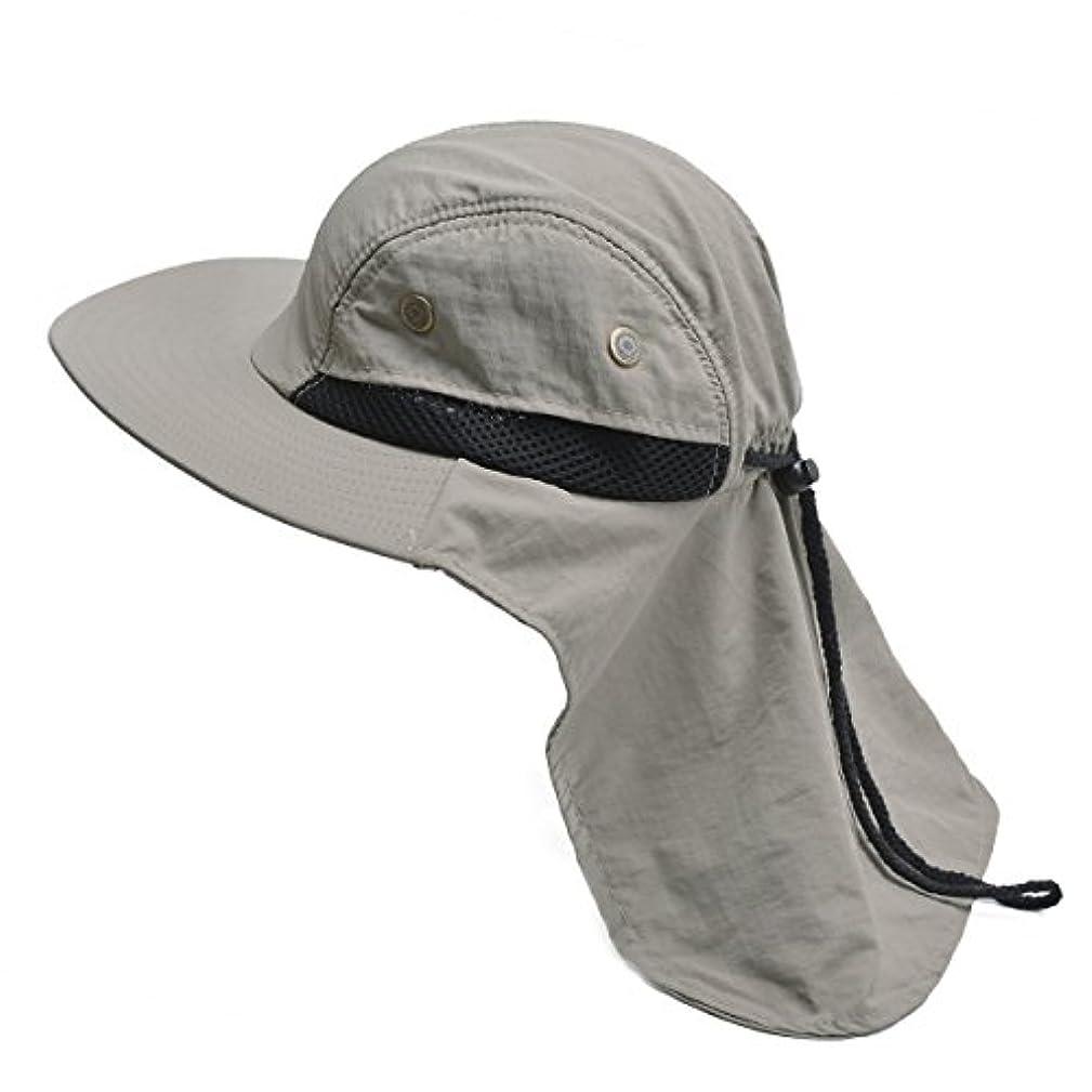 分割お互い失望メンズWide Brim Sunネック保護アウトドア釣りフラップ紫外線対策帽子t202