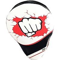 BoxingパッドホワイトレザーMMAキックボクシングPunching Sparring PadsタイフォーカスパッドトレーニングパッドTraining Punching Sparringパッドbj0001