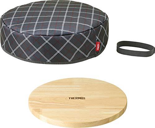 キッチンプラス 取っ手のとれるフライパン専用フライパン保温カバー(木製プレート付) KAC-001