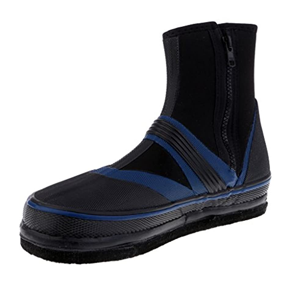 必要税金必要Flameer スパイク フィッシングブーツ 靴 防水 滑り止め 作業 水仕事 釣り 耐久性 保護具