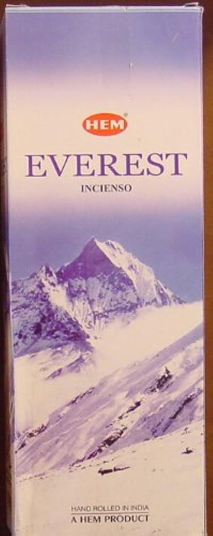田舎者ポジティブ土砂降りHEM(ヘム)社 エベレスト香 スティック EVEREST 6箱セット
