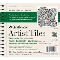 Bulk Buy: Strathmore (3-Pack) Artist Tiles 6in. x 6in. 70/Pkg Recycled Sketch 62105975 [並行輸入品]