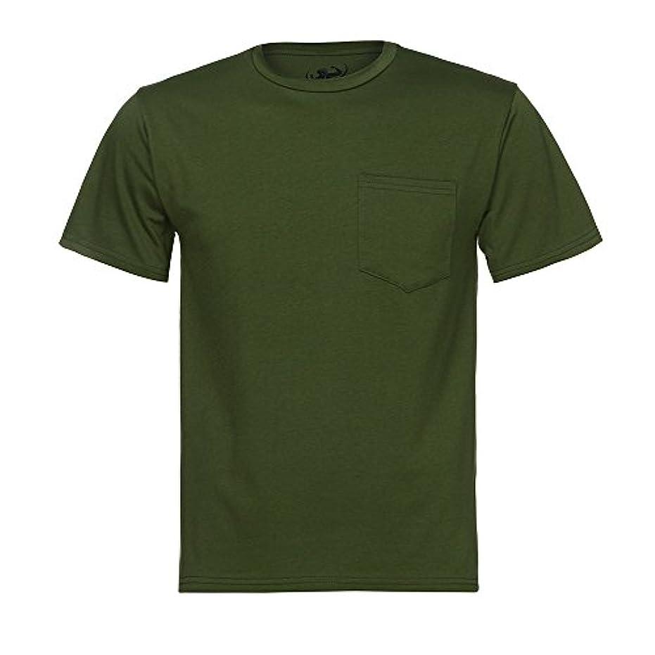 間隔アッティカスフリルPlojuxi Tシャツ メンズ 半袖 おおきいサイズ 無地 オシャレ 緑 黒 tシャツ ポッケト おもしろ おしゃれ クルーネック 柔らかい ファッション 丸首 春 夏 個性 カジュアル スポーツ シンプル 速乾 快適